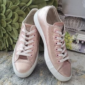 Converse All Star Low Rose Metallic Snake Leather